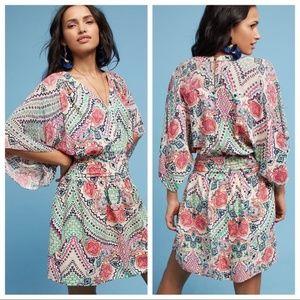 Anthro Maeve Siya V-neck Kimono Dress